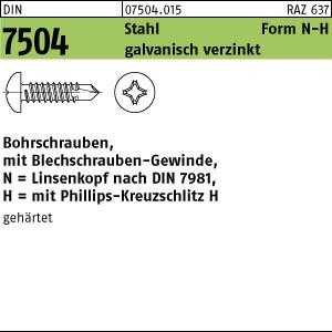 1000 Bohrschrauben Linsenkopf DIN7504 NH verz.3,9x 32