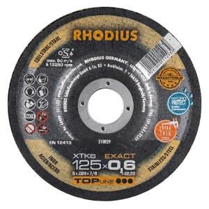 Rhodius Trennscheibe XTK6 EXACT - für Edelstahl / Die dünnste Scheibe der Welt!