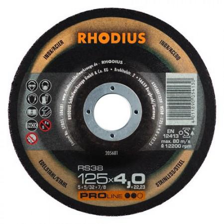 RHODIUS Schruppscheibe RS 38  7,0mm für Stahl u. Edelstahl