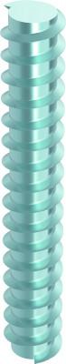 HECO-WB-System / kopflose Gewindestange blau verzinkt - Stahl gehärtet inkl. Zubehör