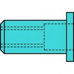 Gesipa Blindnietmuttern A2-Edelstahl Flachrundkopf
