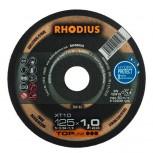 RHODIUS Trennscheibe XT 10 u. XTK 10  für Stahl u. Edelstahl